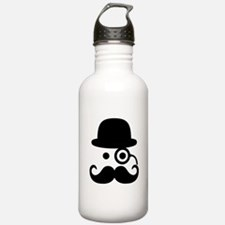Smiley Mustache monocl Water Bottle