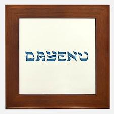 Dayenu Passover Framed Tile