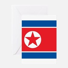 Flag of North Korea Greeting Cards