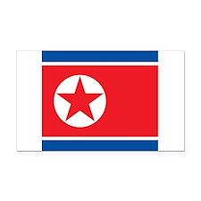 Flag of North Korea Rectangle Car Magnet