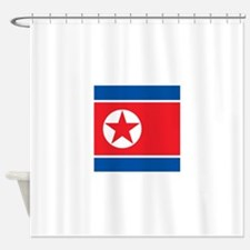 Flag of North Korea Shower Curtain