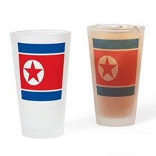 Flag of North Korea Drinking Glass