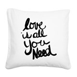All you need is love Throw Pillows