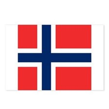 Flag of Norway Postcards (Package of 8)