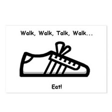Walk, Talk, Eat Postcards (Package of 8)