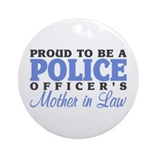 Proud Officer's MIL Ornament (Round)
