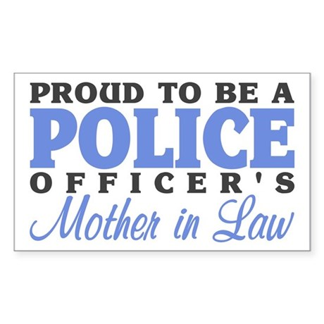 Proud Officer's MIL Rectangle Sticker