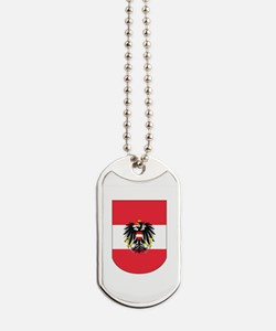 Austrian Coat of arms on Shield Dog Tags