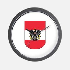 Austrian Coat of arms on Shield Wall Clock