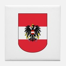Austrian Coat of arms on Shield Tile Coaster