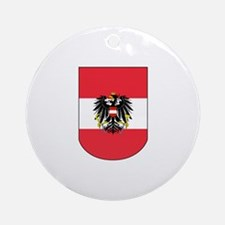 Austrian Coat of arms on Shield Ornament (Round)