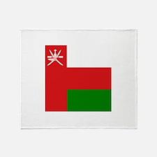 Flag of Oman Throw Blanket