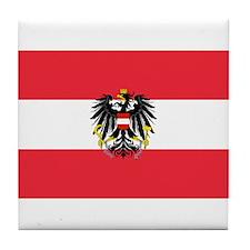 Austrian Coat of Arms Flag Tile Coaster