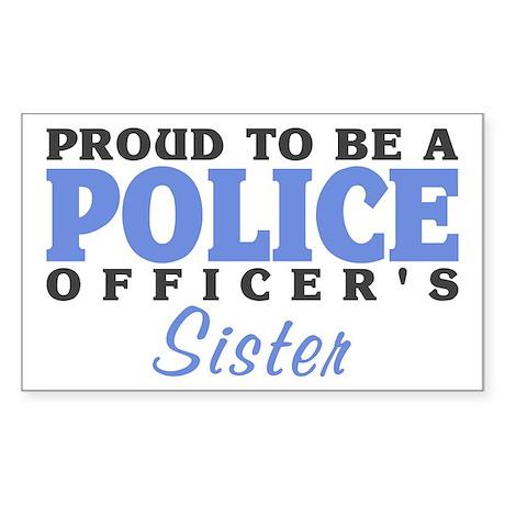 Officer's Sister Rectangle Sticker