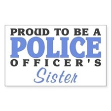 Officer's Sister Rectangle Stickers