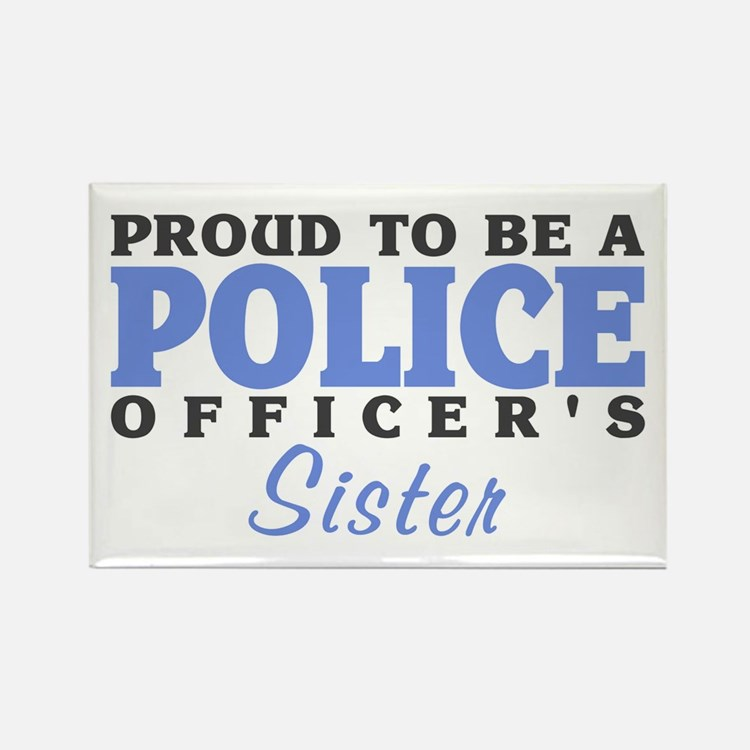 Officer's Sister Rectangle Magnet