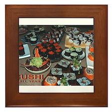 Cute Sushi Framed Tile