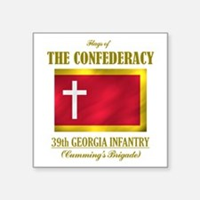 39th Georgia Infantry(Flag 3).png Square Sticker 3