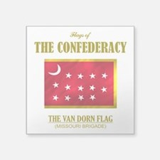 "Van Dorn Flag (Flag 3).png Square Sticker 3"" x 3"""