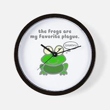 Frog Passover Plague Wall Clock