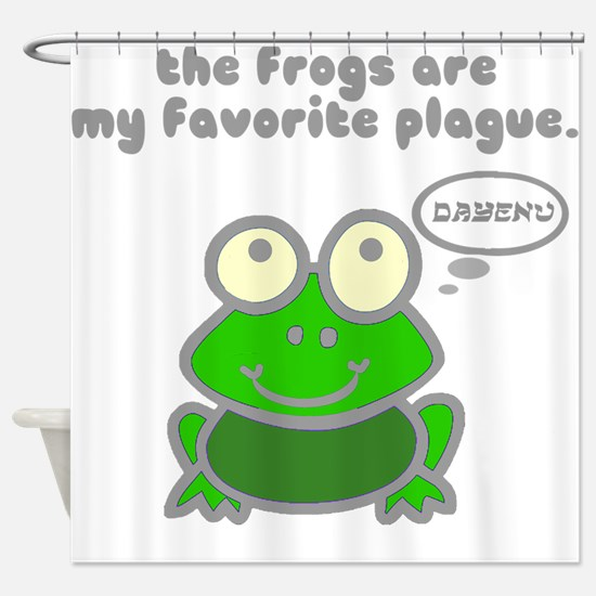Frog Passover Plague Shower Curtain