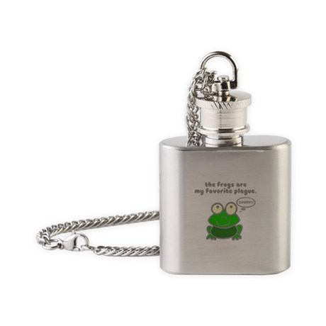 Frog Passover Plague Flask Necklace