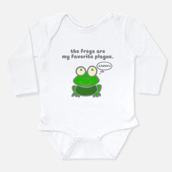 Frog Passover Plague Long Sleeve Infant Bodysuit