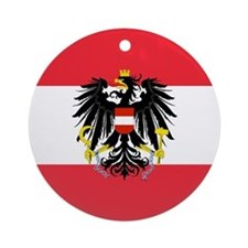 Austrian Coat of Arms Flag Ornament (Round)