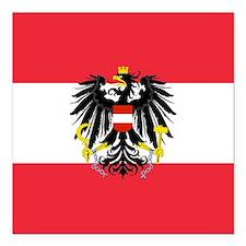"Austrian Coat of Arms Flag Square Car Magnet 3"" x"