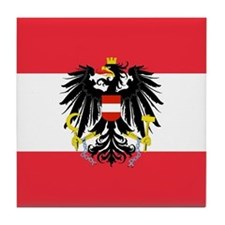 Austrian Coat of Arms Flag Tile Coaster
