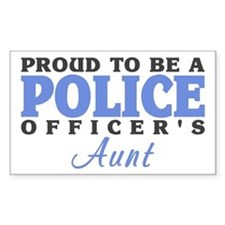 Proud Officer's Aunt Rectangle Decal