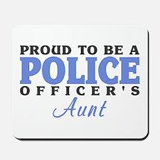 Proud Officer's Aunt Mousepad