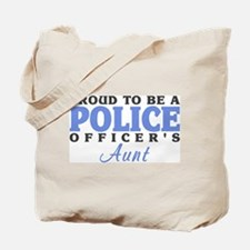 Proud Officer's Aunt Tote Bag
