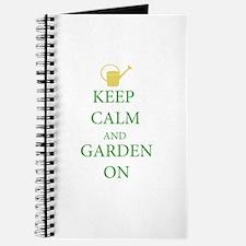 Keep Calm and Garden On Journal