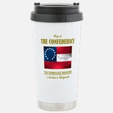 7th Tennessee Inf (Flag 3).png Travel Mug