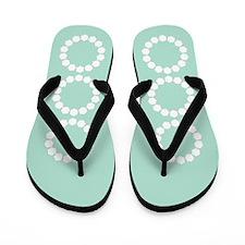 Divine Retro Mint Green Diamond Loop Flip Flops