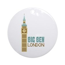 Big Ben London Ornament (Round)