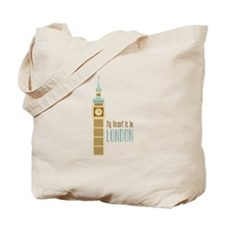 My Heart Is In London Tote Bag