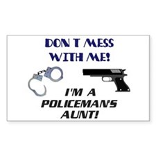 I'm a Policeman's Aunt! Rectangle Decal