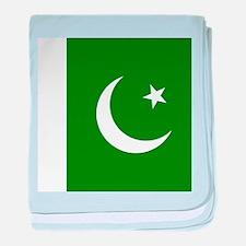 Flag of Pakistan baby blanket