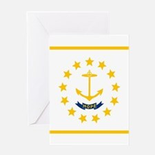 Flag of Rhode Island Greeting Cards
