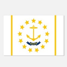 Flag of Rhode Island Postcards (Package of 8)