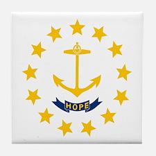 Flag of Rhode Island Tile Coaster