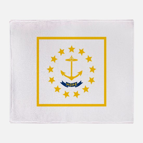 Flag of Rhode Island Throw Blanket