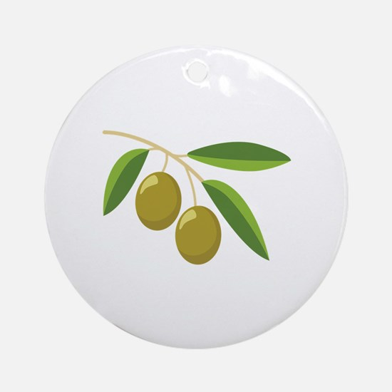 Olive Branch Ornament (Round)