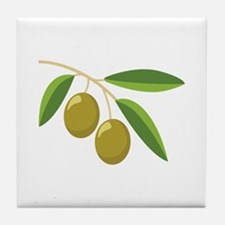 Olive Branch Tile Coaster