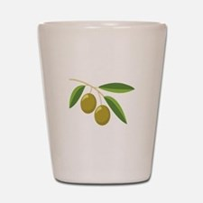 Olive Branch Shot Glass