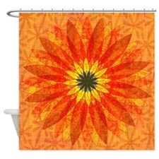 Sunburst Floral Shower Curtain