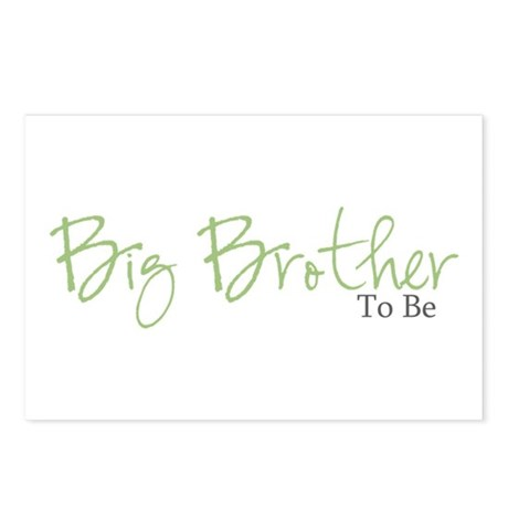 Big Brother To Be (Green Script) Postcards (Packag