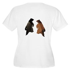 BLACK & BROWN DANCING BEARS T-Shirt